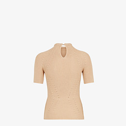 FENDI PULLOVER - Pullover aus Seide in Beige - view 2 thumbnail
