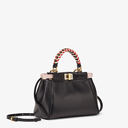 FENDI PEEKABOO ICONIC MINI - Black nappa leather bag - view 3 thumbnail