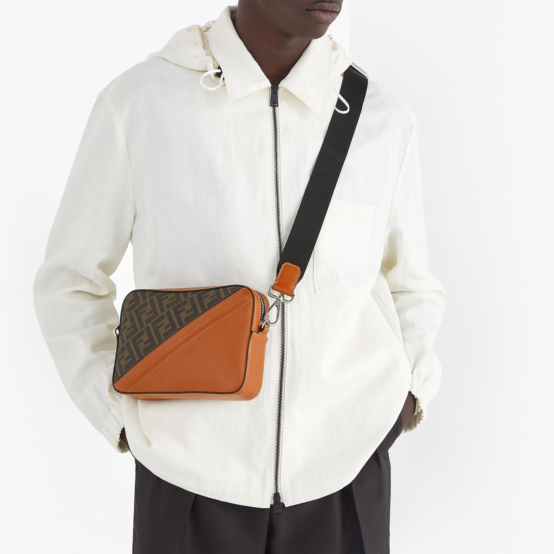 FENDI CAMERA CASE - Brown fabric bag - view 6 detail