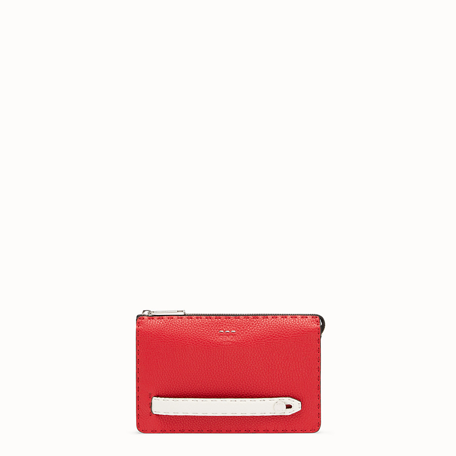 FENDI CLUTCH - Multicolour leather pochette - view 1 detail
