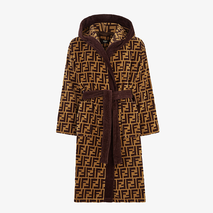 FENDI BATHROBE - Multicolour fabric bathrobe - view 1 detail