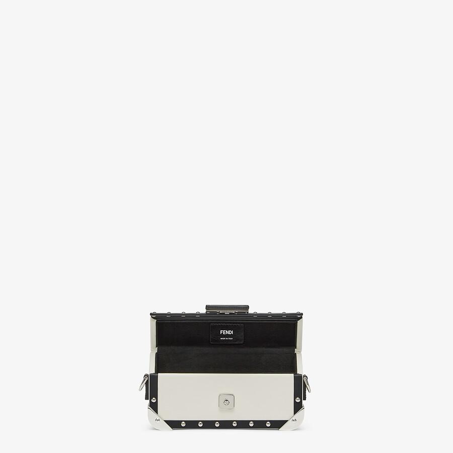 FENDI BAGUETTE TRUNK MINI - White leather bag - view 4 detail