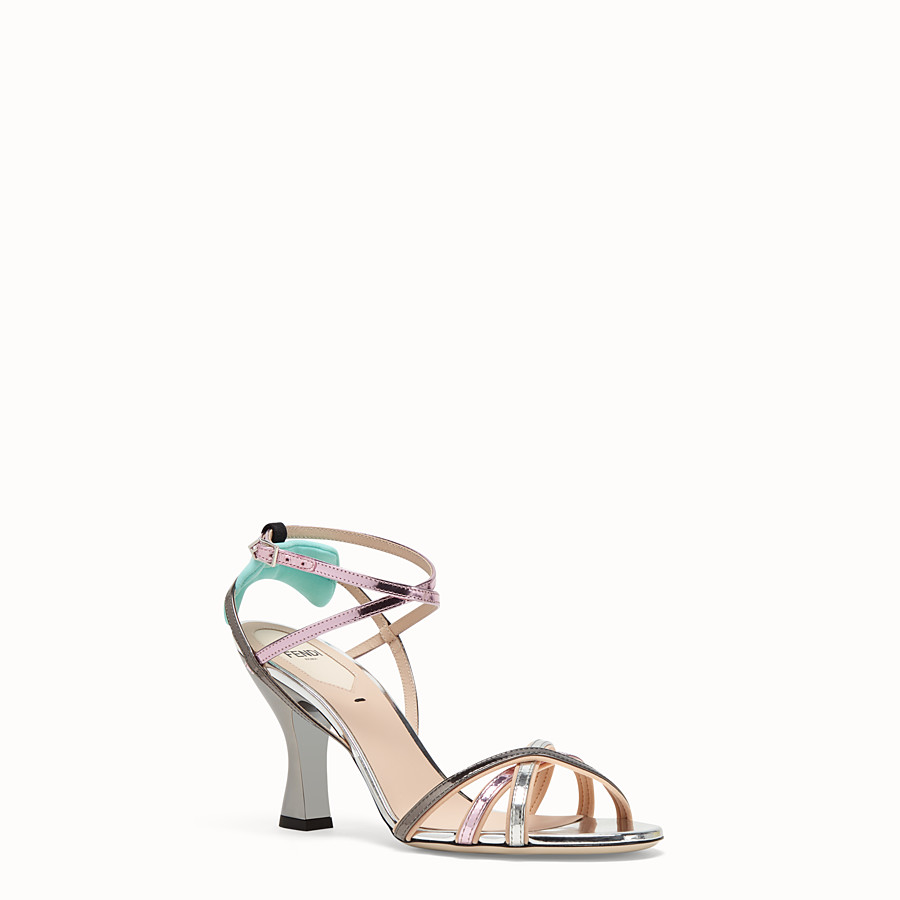 FENDI SANDALS - Multicolour leather sandals - view 2 detail