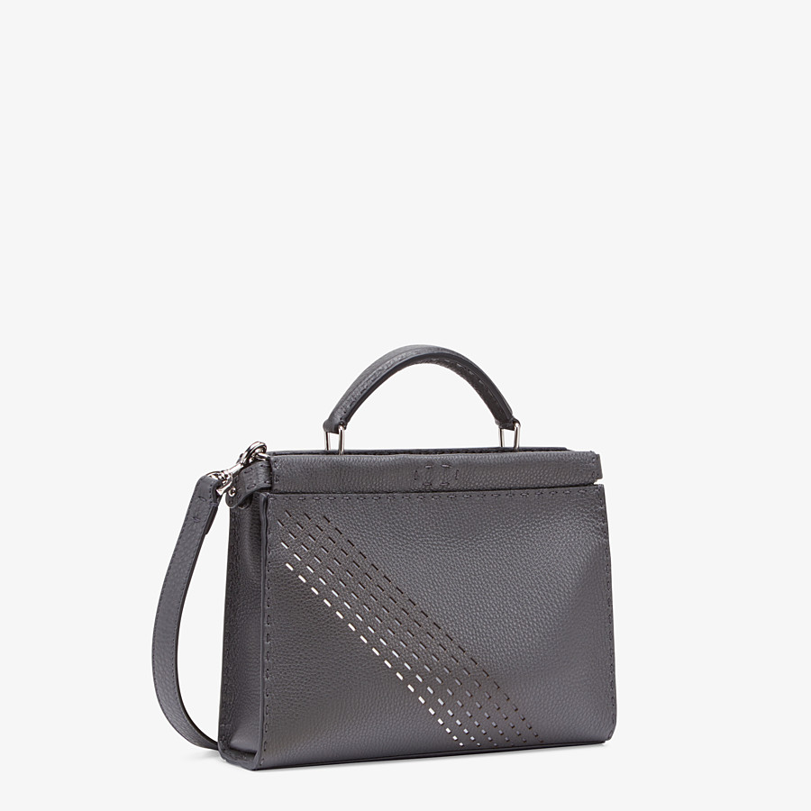 FENDI PEEKABOO ICONIC FIT MINI - Gray calfskin bag - view 2 detail
