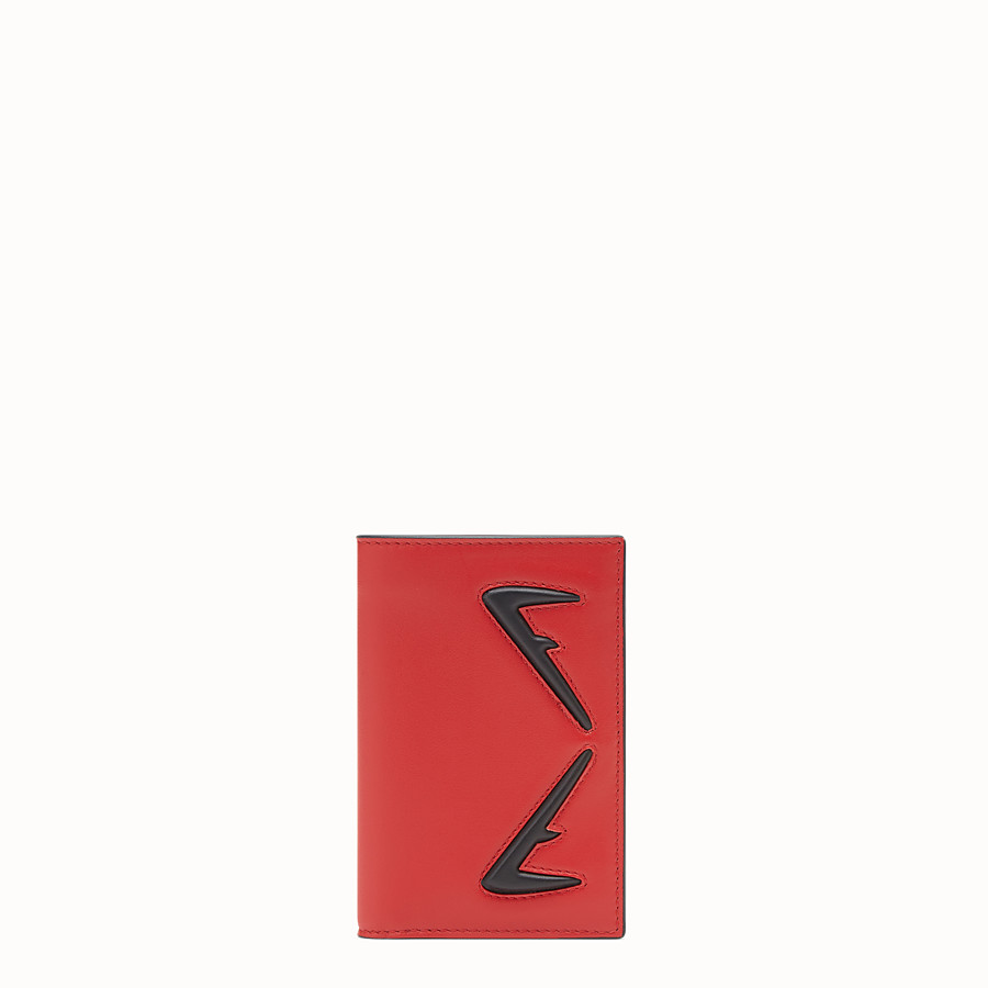 FENDI CARD HOLDER - Red leather wallet - view 1 detail