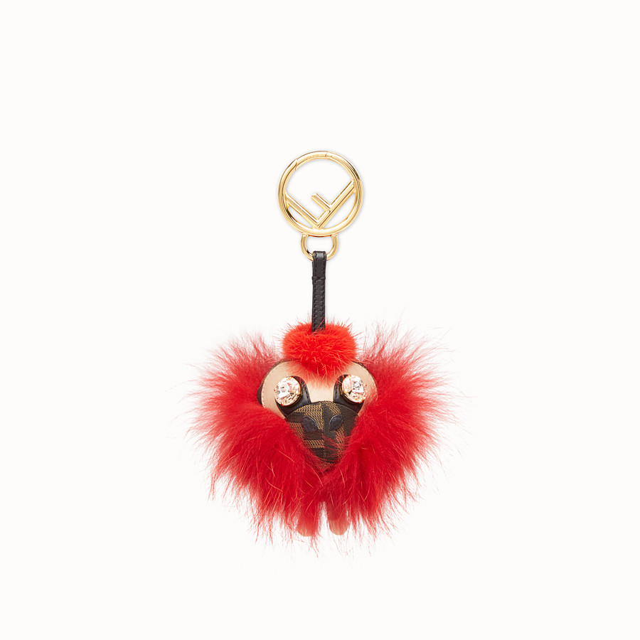 FENDI SPACE MONKEY - Red fur charm - view 2 detail
