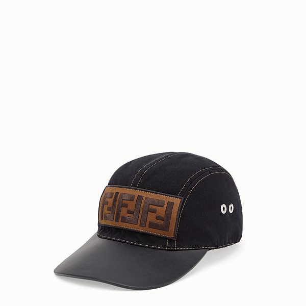 FENDI HAT - Black tech fabric baseball cap - view 1 small thumbnail