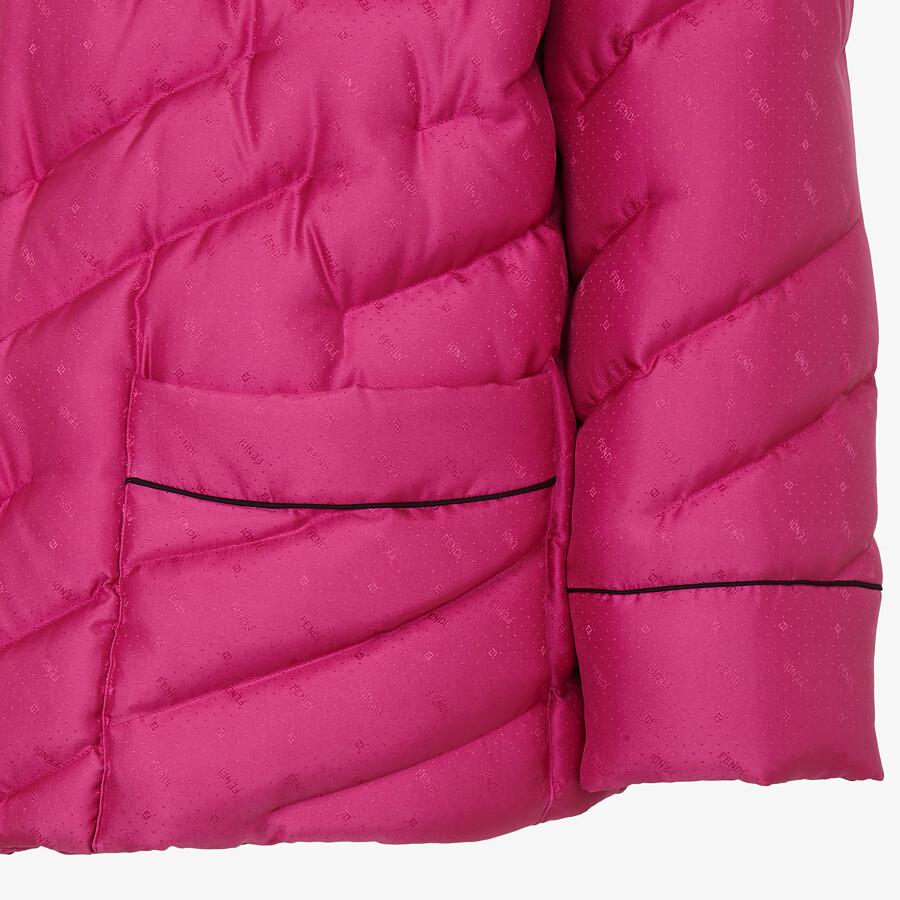 FENDI JACKET - Fuchsia silk jacket - view 3 detail