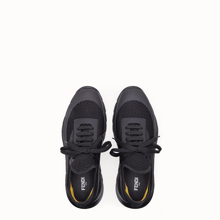 FENDI SNEAKERS - Black tech mesh running shoes - view 4 detail