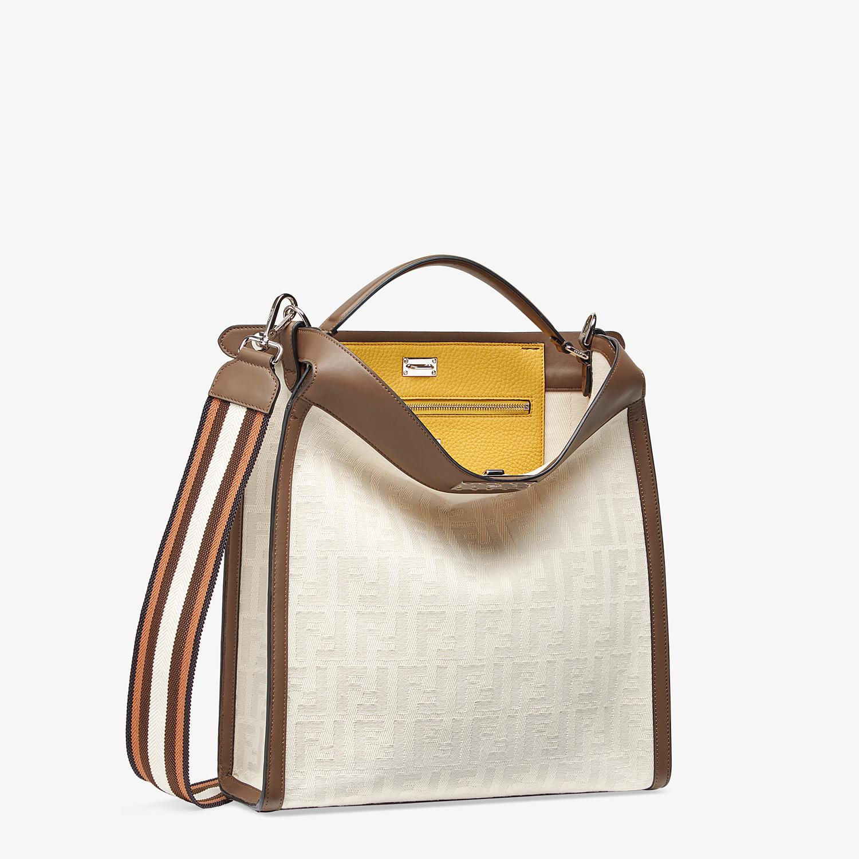 FENDI PEEKABOO X-LITE FIT - White canvas bag - view 3 detail