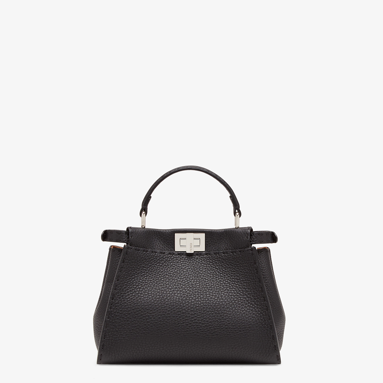 FENDI PEEKABOO ICONIC MINI - Black leather bag - view 1 detail