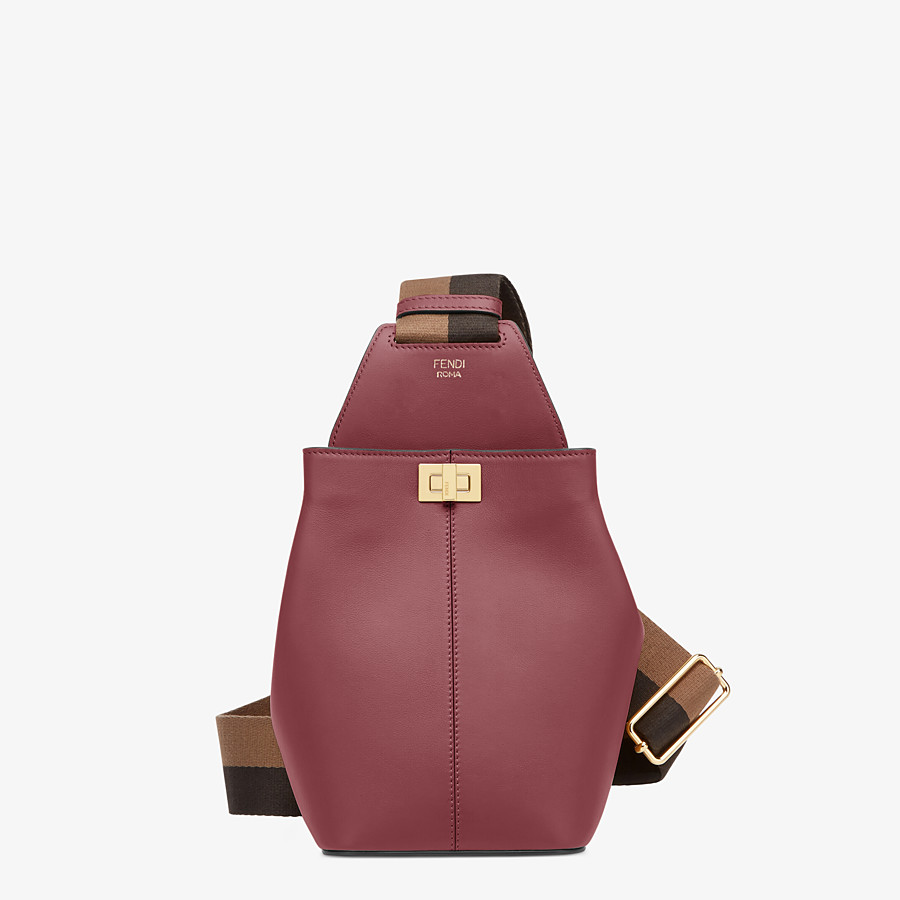 FENDI GUITAR BAG - Burgundy leather mini-bag - view 1 detail