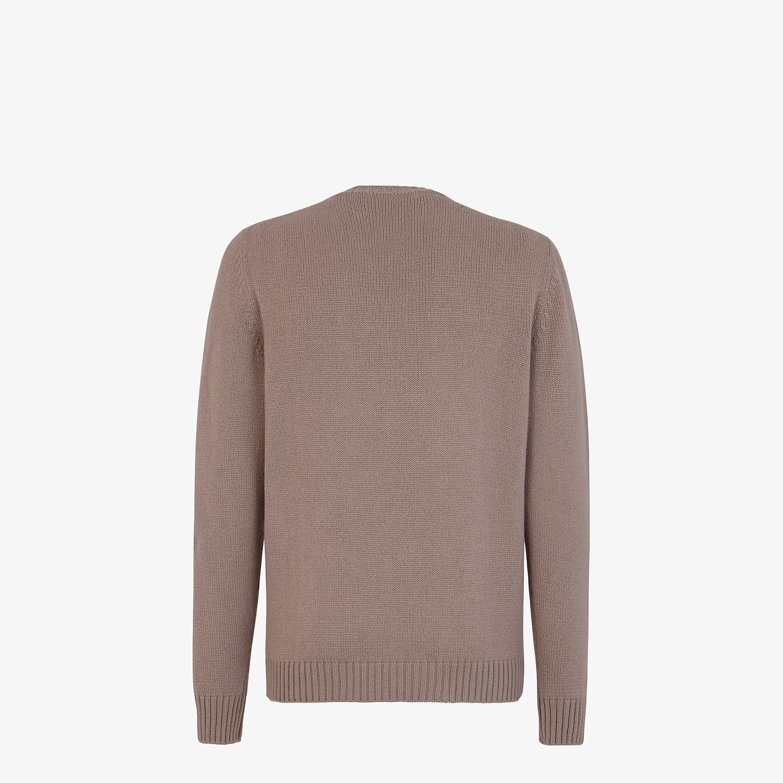 FENDI PULLOVER - Beige cashmere jumper - view 2 detail