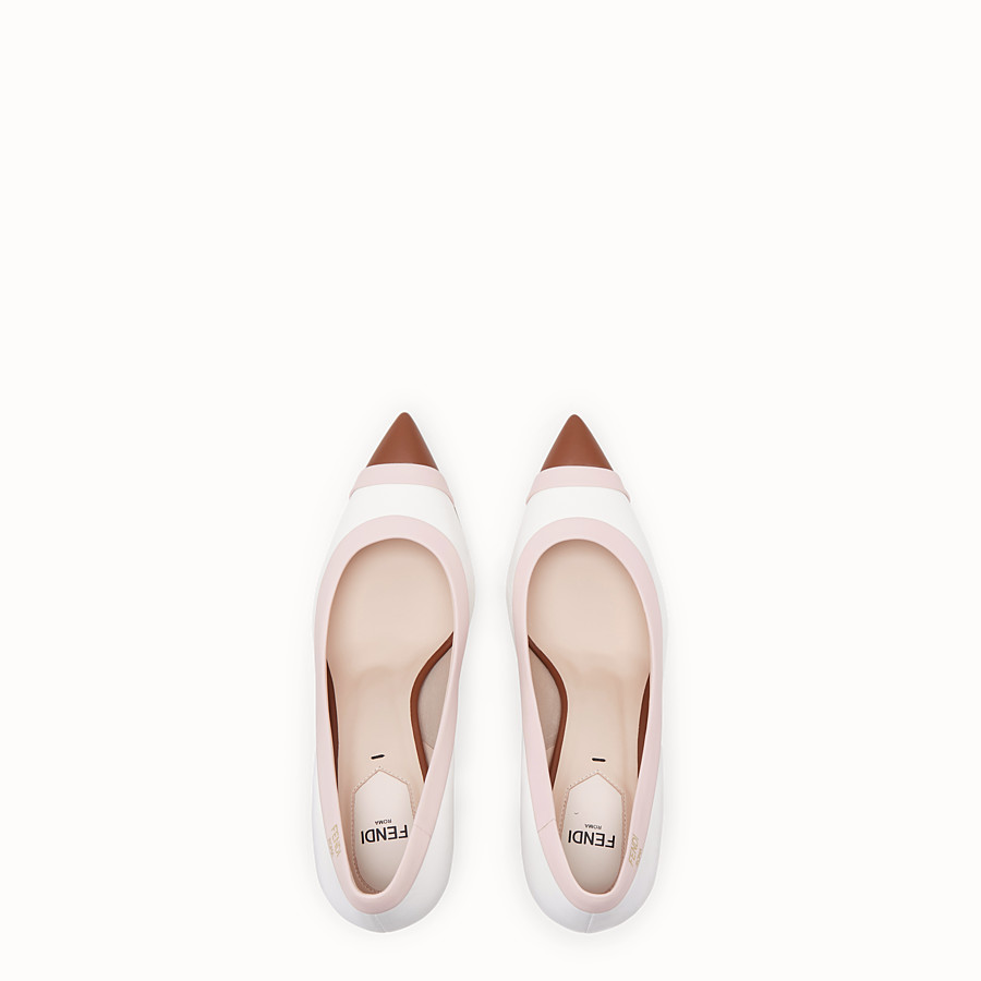 FENDI COURT SHOES - White nappa leather court shoes. - view 4 detail