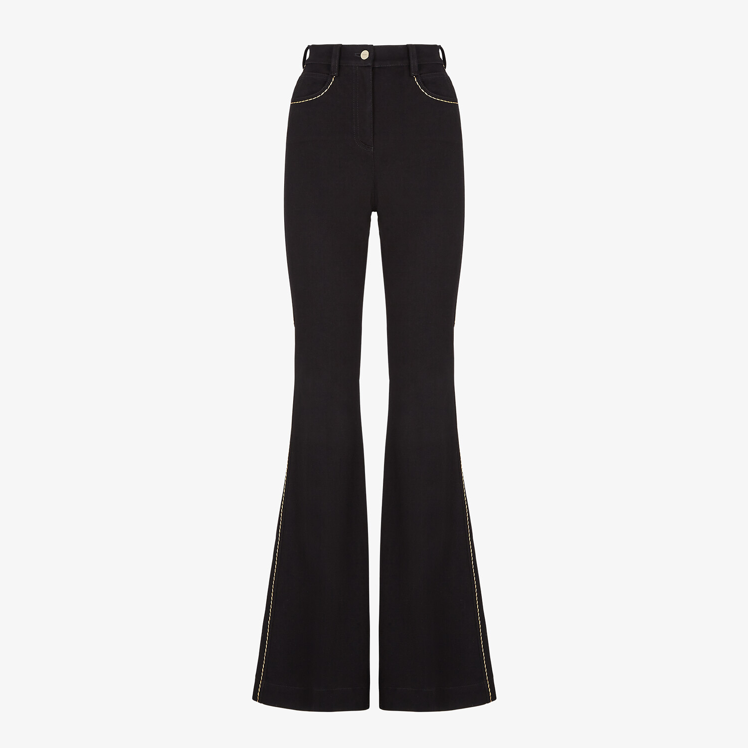 FENDI PANTS - Black denim pants - view 1 detail