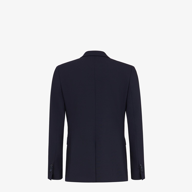 FENDI JACKET - Blazer in blue cool wool - view 2 detail