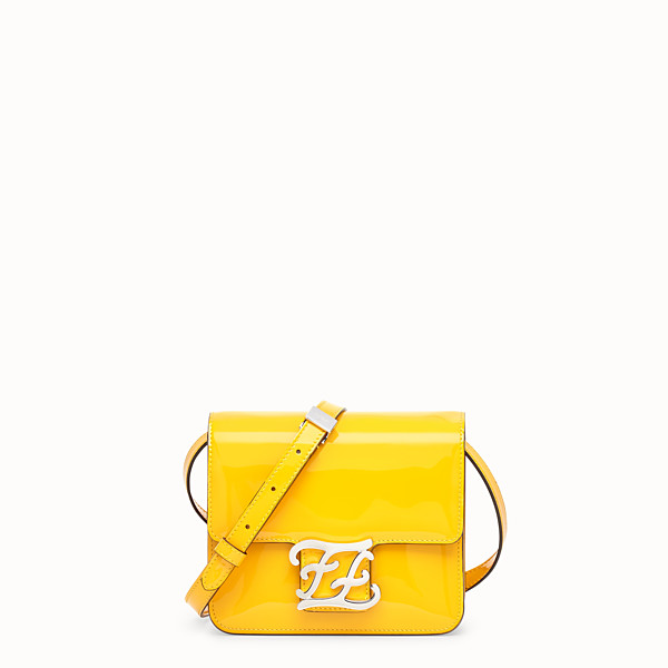 FENDI KARLIGRAPHY - Yellow patent leather bag - view 1 small thumbnail