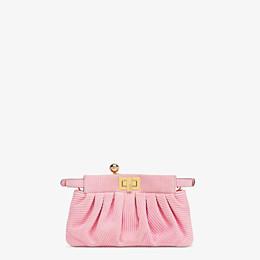 FENDI PEEKABOO CLICK - Small pink chamois bag - view 4 thumbnail