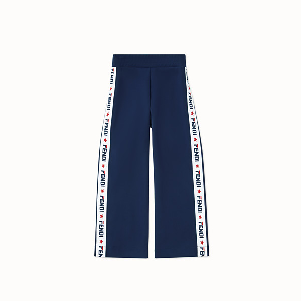 FENDI TROUSERS - Blue tech fabric trousers - view 1 small thumbnail