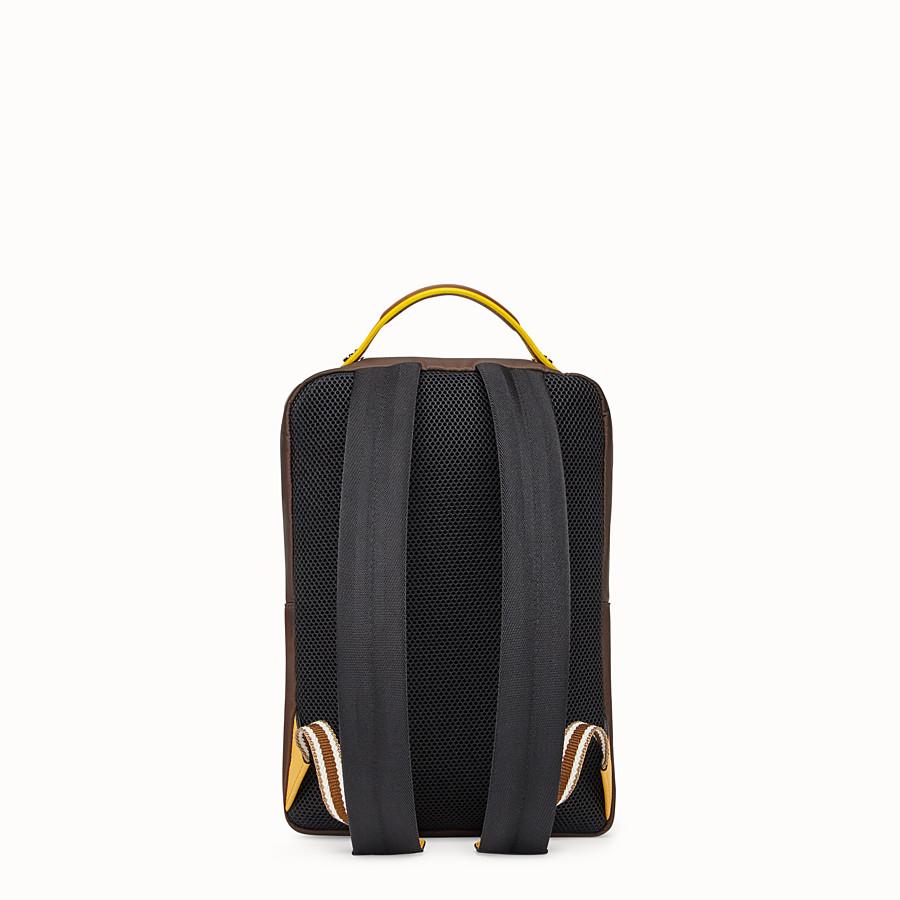FENDI BACKPACK - Brown nylon backpack - view 3 detail