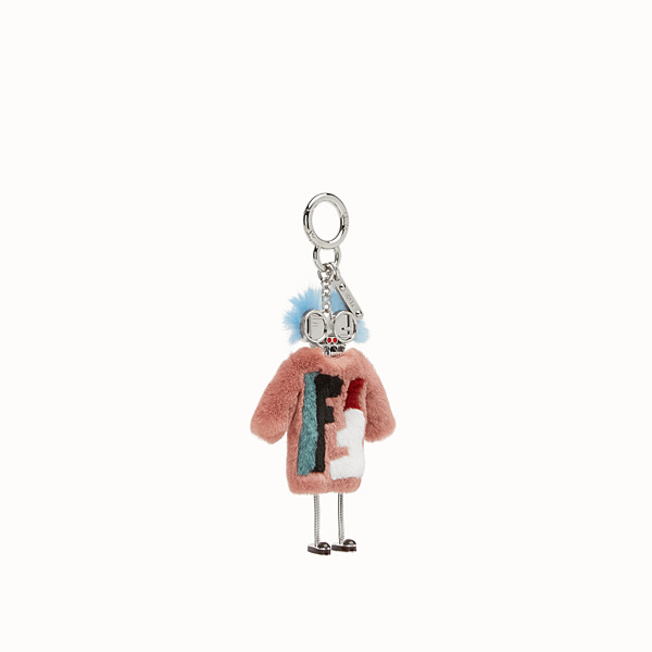 FENDI TEEN WITCHES CHARM - Pink rabbit fur charm - view 1 small thumbnail