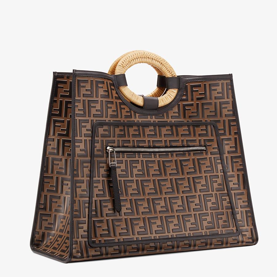 FENDI RUNAWAY SHOPPER - Multicolor leather shopper - view 3 detail