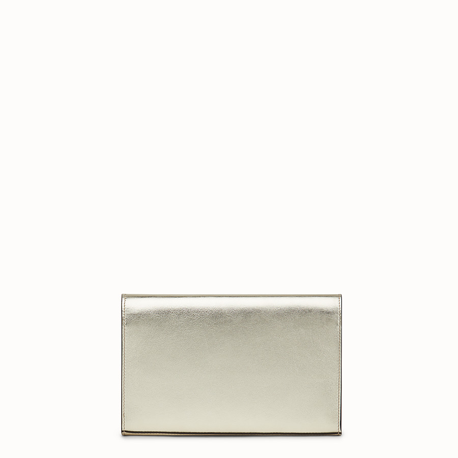 FENDI WALLET ON CHAIN - Champagne leather mini-bag - view 3 detail