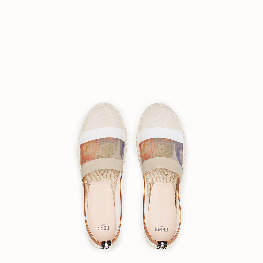 FENDI ESPADRILLES - White canvas espadrilles - view 4 detail