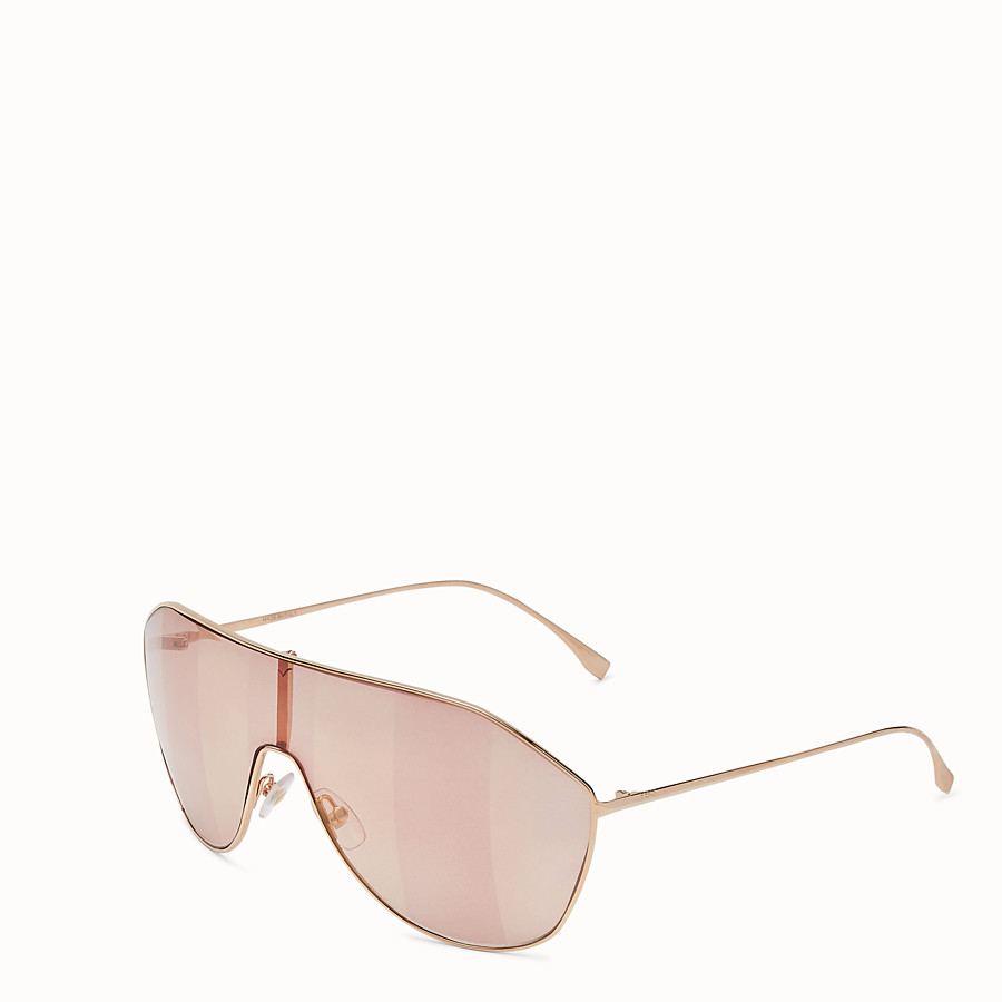 FENDI FF FAMILY - Pink sunglasses - view 2 detail