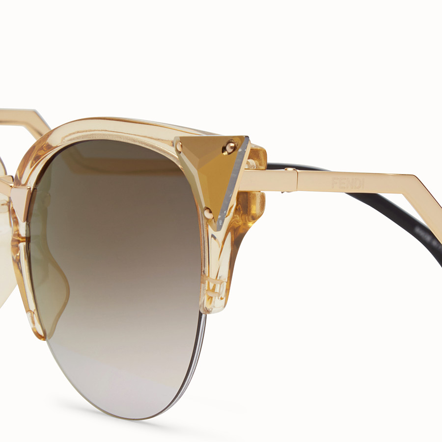FENDI IRIDIA - Gold-coloured sunglasses - view 3 detail