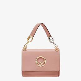 FENDI KAN I F - Tasche aus rosafarbenem Leder - view 1 thumbnail
