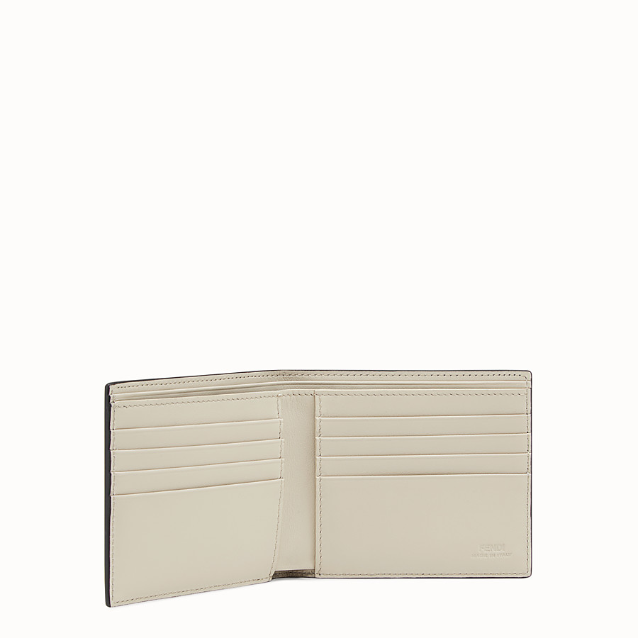 FENDI WALLET - Blue leather bi-fold - view 3 detail
