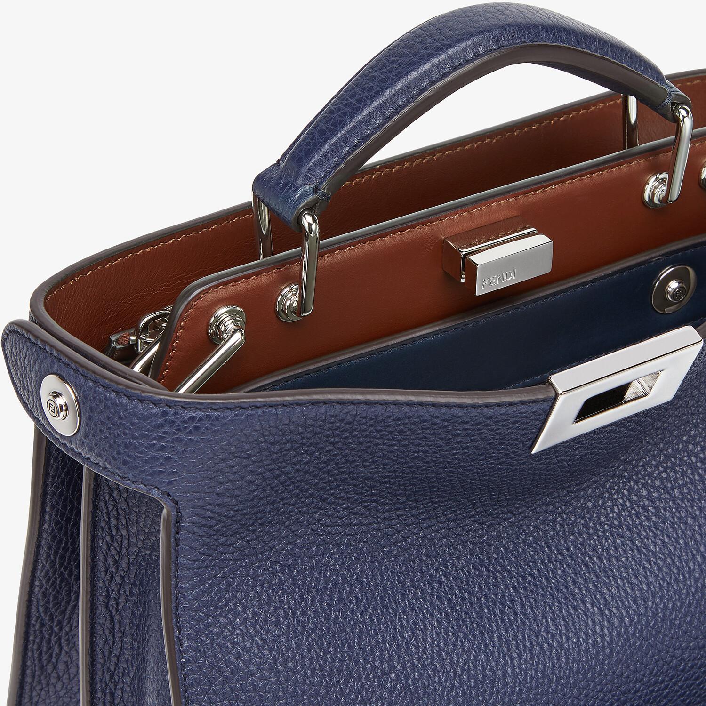 FENDI PEEKABOO ISEEU MINI - Dark blue leather bag - view 6 detail