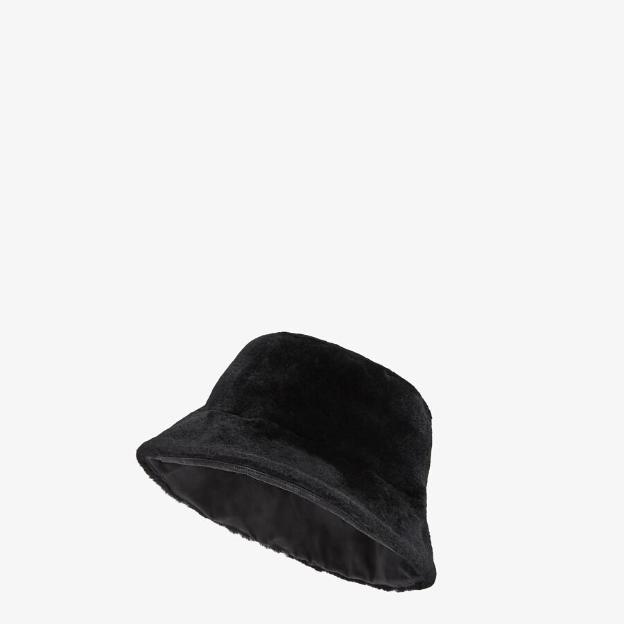FENDI HAT - Black wool bucket hat - view 1 detail