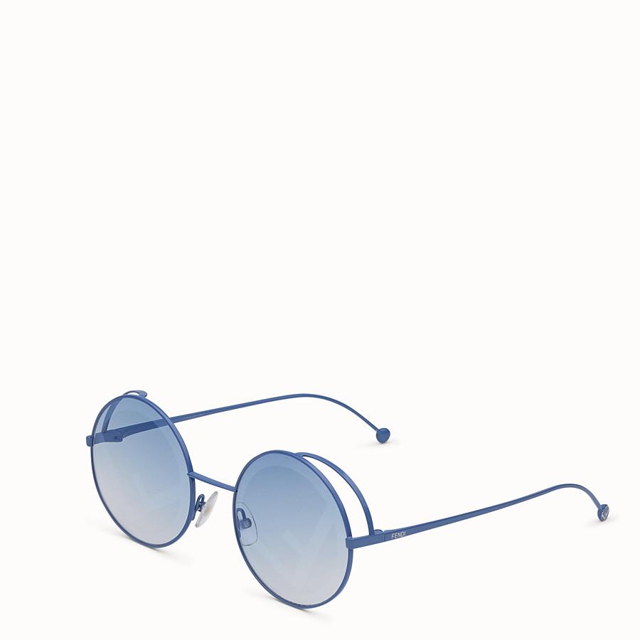 FENDI FENDIRAMA - White sunglasses - view 2 detail