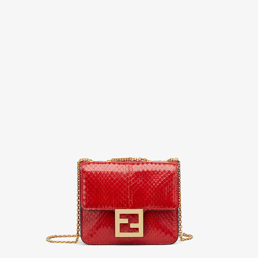 FENDI FENDI FAB - Bag in red elaphe - view 1 detail