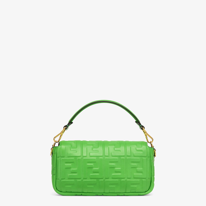 FENDI BAGUETTE - Green nappa leather bag - view 3 detail