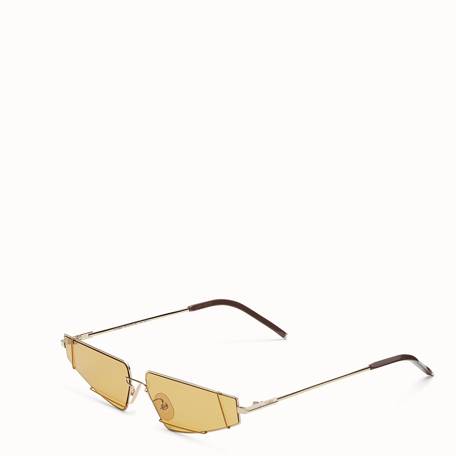 FENDI FENDIFIEND - S/S19 Fashion Show gold and brown sunglasses - view 2 detail