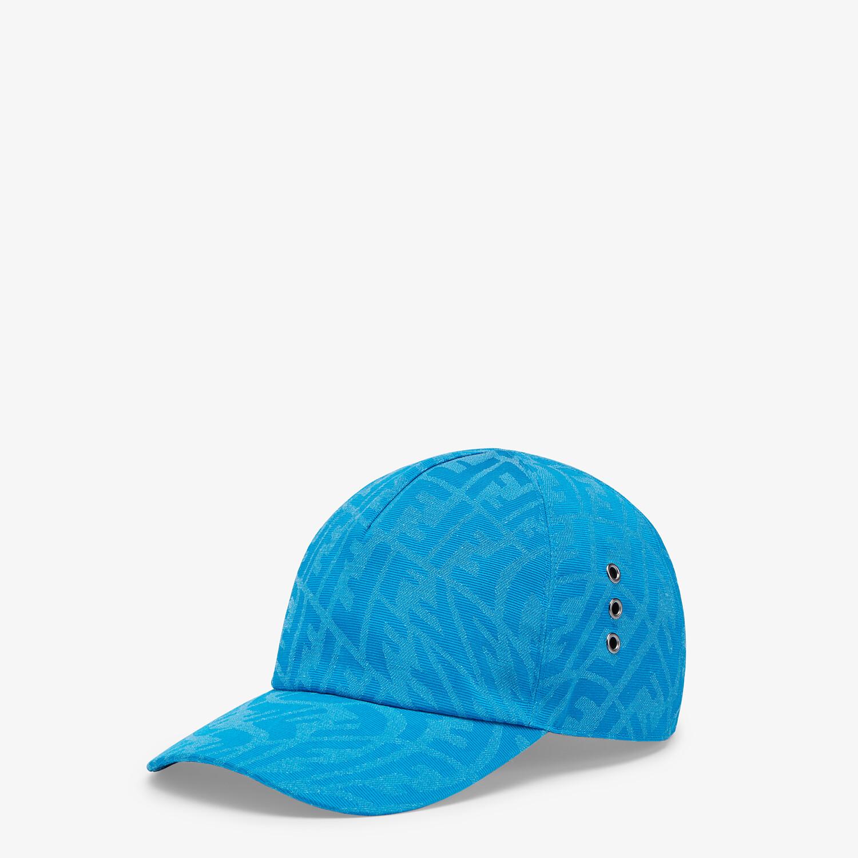 FENDI HAT - Light blue canvas baseball cap - view 1 detail
