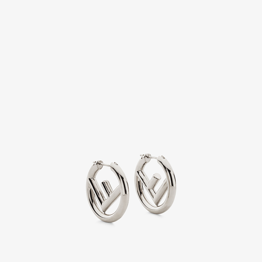 FENDI F IS FENDI EARRINGS - Palladium-coloured earrings - view 1 detail