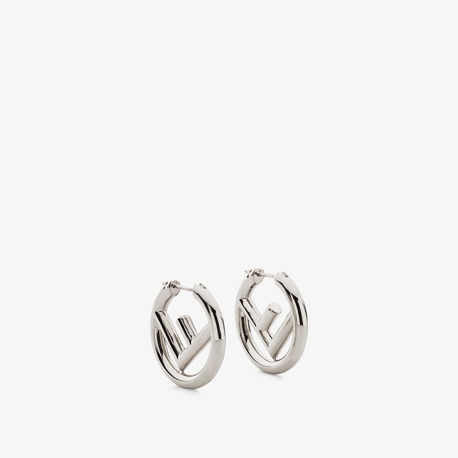 FENDI F IS FENDI EARRINGS - Palladium-coloured earrings - view 1 detail
