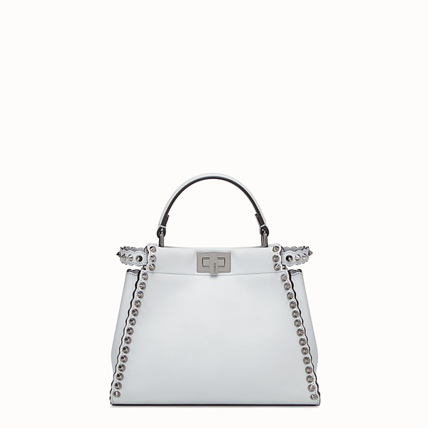 FENDI PEEKABOO MINI - Grey leather bag - view 1 small thumbnail
