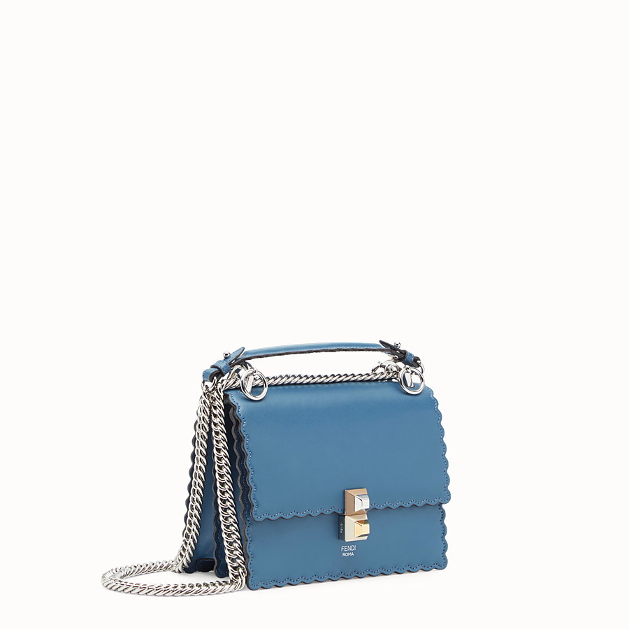 FENDI KAN I SMALL - Blue leather mini-bag - view 2 detail