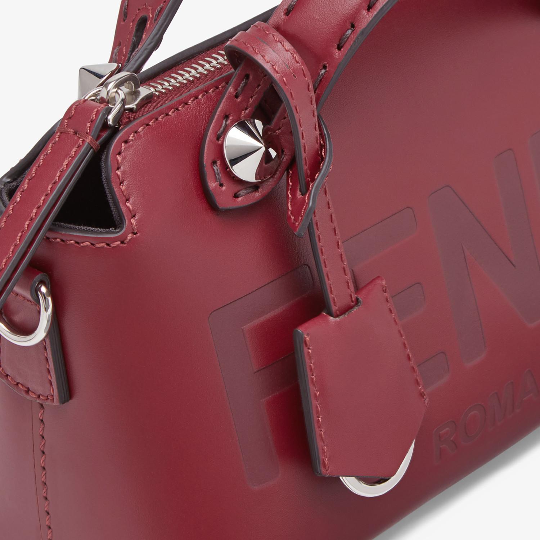 FENDI BY THE WAY MINI - Burgundy leather Boston bag - view 6 detail
