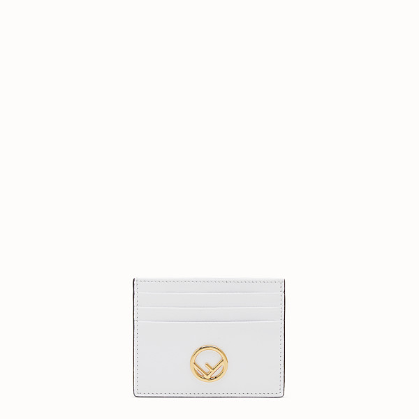 FENDI CARD HOLDER - Flat white leather card holder - view 1 small thumbnail
