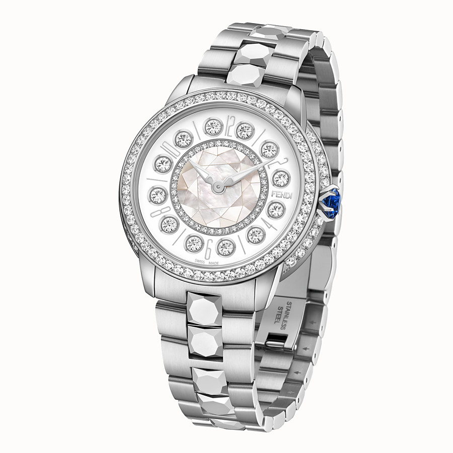 FENDI FENDI ISHINE - 38 MM - Watch with diamonds and rotating precious stones - view 2 detail