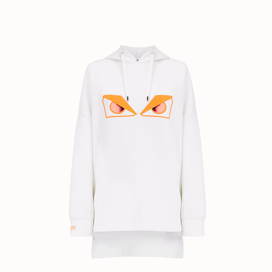 FENDI SWEATSHIRT - White fabric sweatshirt - view 1 detail