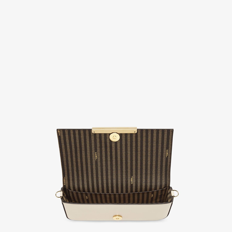 FENDI WALLET ON CHAIN WITH POUCHES - White leather mini-bag - view 5 detail