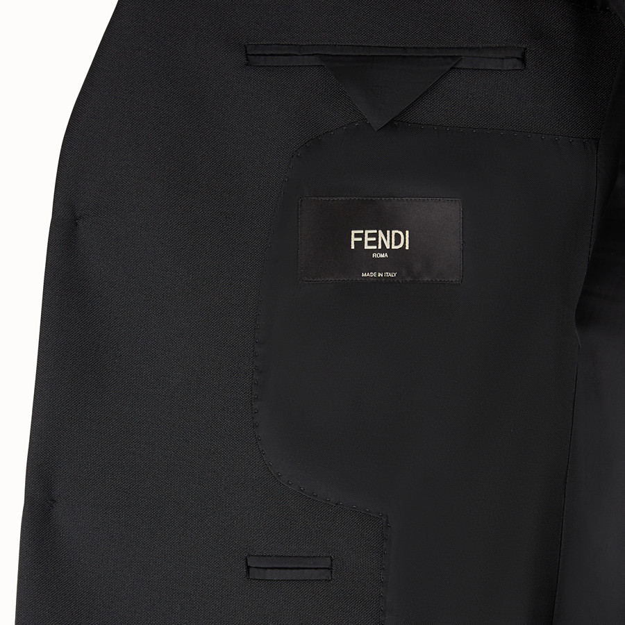 FENDI JACKET - Black wool gabardine blazer - view 5 detail