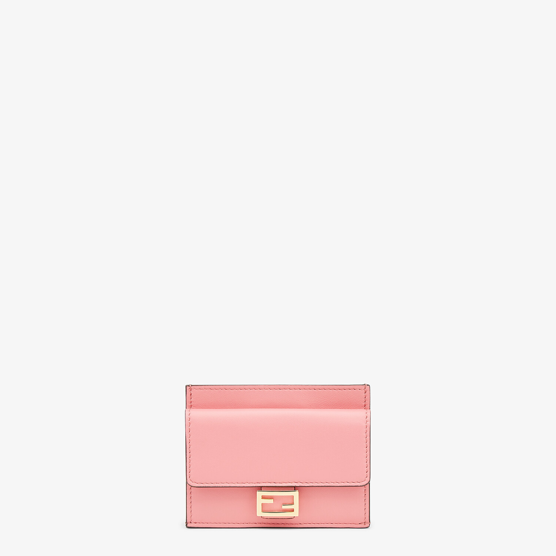 FENDI CARD HOLDER - Pink leather cardholder - view 1 detail